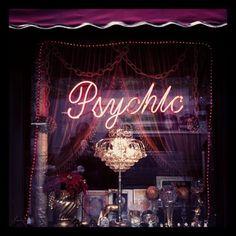 psychic, dark, and neon image