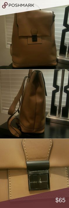 Bag Great neutral colors looks new. Slight scratch on lock Armani Exchange Bags Backpacks
