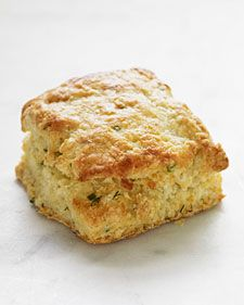 These savory herb-buttermilk biscuits have dill, chives, and rosemary baked right inside.