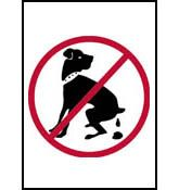 No Dog Pooping and Peeing Aluminum Signs