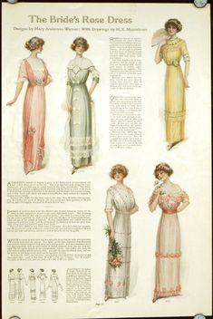 Edwardian Dress, Edwardian Fashion, Vintage Fashion, Edwardian Era, 1914 Fashion, Fashion History, Gothic Fashion, Historical Costume, Historical Clothing