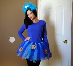 PSLOVEROSE: Cookie Monster Costume   Halloween   tutu