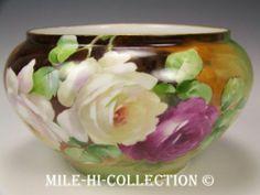 Bavaria Hand Painted Roses Jardiniere Vase | eBay