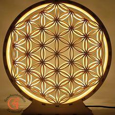 Holz Blume des Lebens mit LED Licht Deko Weihnachtsgeschenk Wohnzimmer Dekoration