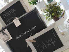Sissie's Shabby Cottage: Making Chalkboards...