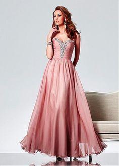 Fabulous Silk Like Chiffon Sweetheart Neckline Floor-length A-line Evening Dress
