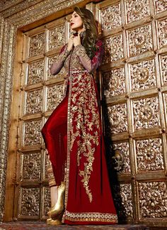 Shop Malaika Arora Khan Resham Work Navy Blue Designer Suit Bridal/wedding wear suit online from India with free worldwide shipping offer Pakistani Dresses, Indian Dresses, Fashion Pants, Fashion Dresses, Designer Anarkali, Indian Suits, Anarkali Suits, Indian Designer Wear, Jacket Style