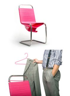 coat check chair from Continuum
