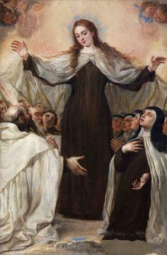 """ordocarmelitarum: """" Juan Carreño de Miranda, Patrocinio della Vergine del Carmelo sull'ordine carmelitano, XVII sec., Chiesa parrocchiale, Almeida de Sayago (Zamora) """""""