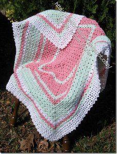 "Snugly Soft Baby Blanket - finished size: 35"" x 41"" - CROCHET - intermediate - FREE PATTERN"