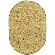 @Overstock.com - Handmade Majesty Light Brown/ Beige Wool Rug (7'6 x 9'6 Oval) - Hand-tufted rug features a light brown background with a beige border Traditional rug is made from New Zealand wool pile Floor rug displays stunning accents of olive, ivory and rust  http://www.overstock.com/Home-Garden/Handmade-Majesty-Light-Brown-Beige-Wool-Rug-76-x-96-Oval/4328942/product.html?CID=214117 $293.39