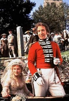 Alan Rickman and Kate WInslet in the wedding scene of 'Sense and Sensibility'.