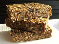 I originally developed these bars for a cooking class on bone health. Almost every ingredient here is high in calcium...