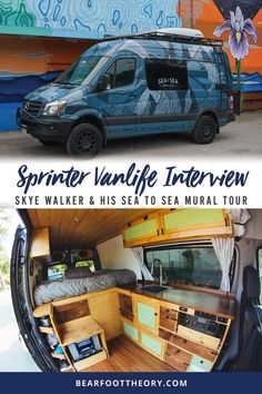 Sprinter Van Life Interview with Artist Skye Walker - Bearfoot Theory