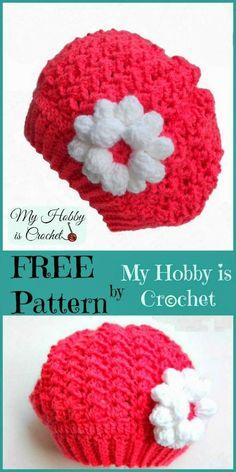Parisian Sweetheart - Toddler Slouch Hat  #freecrochetpattern