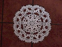 Doily with the 'feel' of Irish crochet