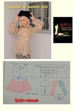 Kebaya Bali, Kebaya Dress, Blouse Dress, Dress Sewing Patterns, Blouse Patterns, Dress Muslim Modern, Kebaya Brokat, Diy Makeup Bag, Dress Design Sketches