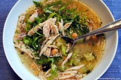 Lemon-Chicken & Pepe Soup - a light and flavorful soup inspired by Greek and Italian flavors.