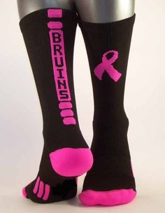 df211846ba3 Custom School Socks for your PINK OUT event in October. Best School  Fundraiser