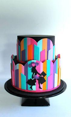 Fashionista Abstract Art Cake by Little Wish Cake ᘡղbᘠ