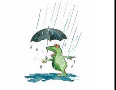 Blupp bajo la lluvia en busca de la felicidad.