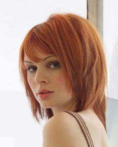 copper hair blunt bob