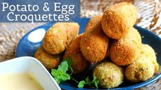 Golden and crispy on the outside and soft in the centre these Potato and Egg Croquettes are mildly spiced and full of flavour. Cubed Potatoes, Gluten Free Flour, How To Dry Oregano, Vegetarian Cheese, Boiled Eggs, Food Processor Recipes, Good Food, Appetizers