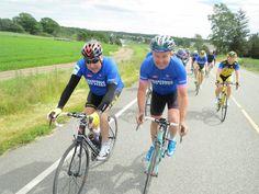 Eddy Merckx og Dag Erik Pedersen sammen med Team Rynkeby Norway 2014 Granfondo don Pedro