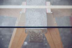 Industrial Beam Desk Handmade in England #fantastic #design