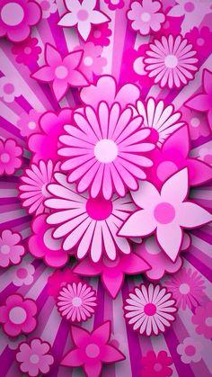 Pink flower great free desktop background best pink flowers wallpaper by ge Retro Wallpaper, Flower Wallpaper, Wallpaper Backgrounds, Vintage Flowers, Pink Flowers, Paper Flowers, Cellphone Wallpaper, Iphone Wallpaper, Hot Pink