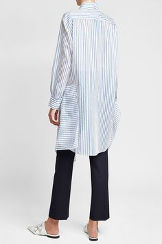 Striped Cotton Dress | Jil Sander Navy