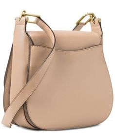 92be263816db Michael Michael Kors Delfina Small Saddle Bag - Tan Beige
