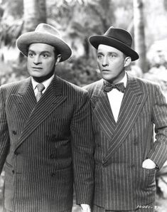 Bob Hope and Bing Crosby.  Will watch anything with them!