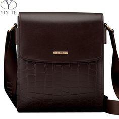 Men's Leather Messenger Bag Small Crossbody