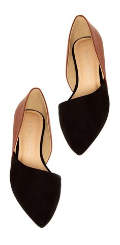 Colorblock d'Orsay Flats https://www.amazon.com/gp/search?ie=UTF8&tag=motorsports06-20&linkCode=ur2&linkId=3c8959b0e3cd9d30b5f52086bcd35447&camp=1789&creative=9325&index=apparel&keywords=shoes Pointed Flat Shoes, Flat Work Shoes, Pointed Flats Outfit, Work Flats, Brown Flat Shoes, Dress Flats, Flat Boots, Shoe Boots, Tan Flats