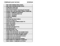 Excel File of Rachel Lynette Task Cards FREE