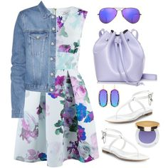 Closet blossom skater dress by thestyleartisan on Polyvore featuring polyvore fashion style Closet Acne Studios Alexander McQueen Rachael Ruddick Kendra Scott Ray-Ban Isaac Mizrahi