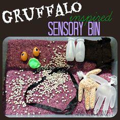 The Gruffalo inspired sensory activity Gruffalo Activities, Gruffalo Party, The Gruffalo, Sensory Activities, Toddler Activities, Activities For Kids, Gruffalo Eyfs, Sensory Tubs, Sensory Play