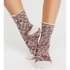 Free People Melbourne Boot Socks Wine 1 Size Nwt