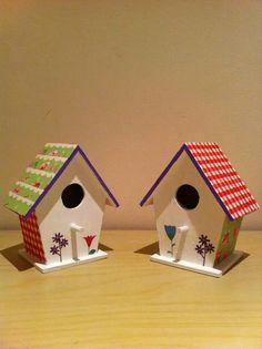 My decoupage bird houses