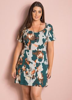 Vestido Evasê (Floral) Plus Size Plus Size Skirts, Plus Size Outfits, Curvy Women Outfits, Clothes For Women, Chubby Fashion, Vestidos Plus Size, Vestido Casual, Dress Skirt, Swag Dress