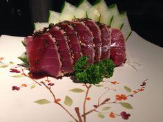 Sashimi semi-grelhado de atum