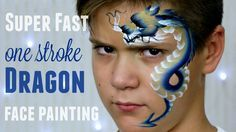 One Stroke Chinese Dragon — Fast & Easy Face Painting Tutorial