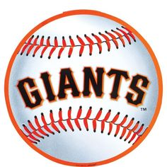 This San Francisco Giants Cutout features the official Giants logo on a baseball-shaped cutout. This laminated, flexible cardstock cutout is a must for any Giants fan. San Francisco Basketball, San Francisco Giants Baseball, San Francisco 49ers, Sf Giants Logo, Super Bowl, Baseball Painting, Mlb, Major League, France