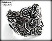 Soutache bracelet, unusual and very elegant - Khaleesi Dragon Queen - Fantasy Fashion Art OOAK