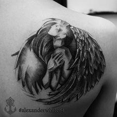#tattoominsk#tattoo#dotwork#lineart#dotworktattoo#angel#angeltattoo