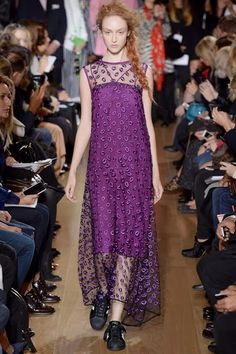 Giles Spring 2014 - Radiant Orchid look Pantone color of the year 2014