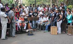 Amit dhane on the spot at balgandharva,pune,maharashtra,india.