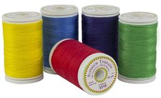 Our newest Sew Sassy 12 weight Polyester thread!  Perfect for detail work on jeans.