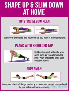 Shape up and slim down at home : #fitness #health #slim #diet #weight #tips #workout #exercise #fit #motivation #arm